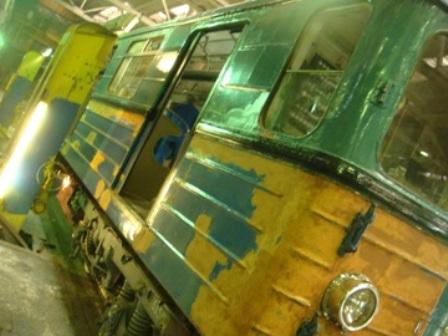 АУ-1718 окраска поверхности. Вагон поезда до окраски эмалью